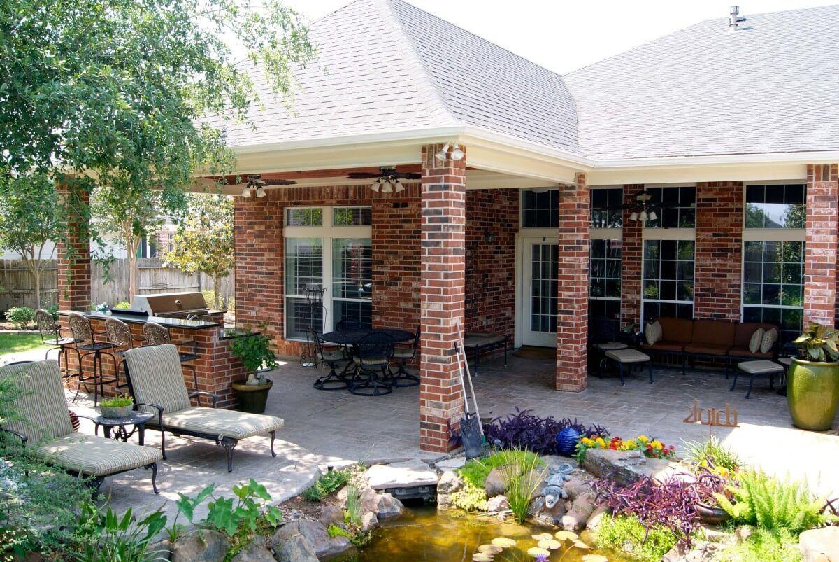 Houston Patio Cover Dallas Patio Design Katy Texas Custom Patios Patio Patio Design Covered Patio