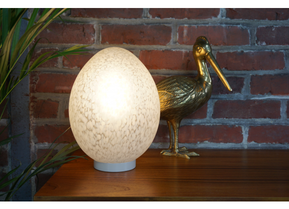 Lampe uovo design ben swildens pour fontana arte lampes - Film transparent pour table en verre ...