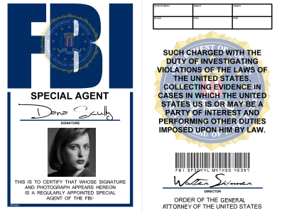 X-Files: Special Agent Dana Scully badge by LieutenantGordon ...
