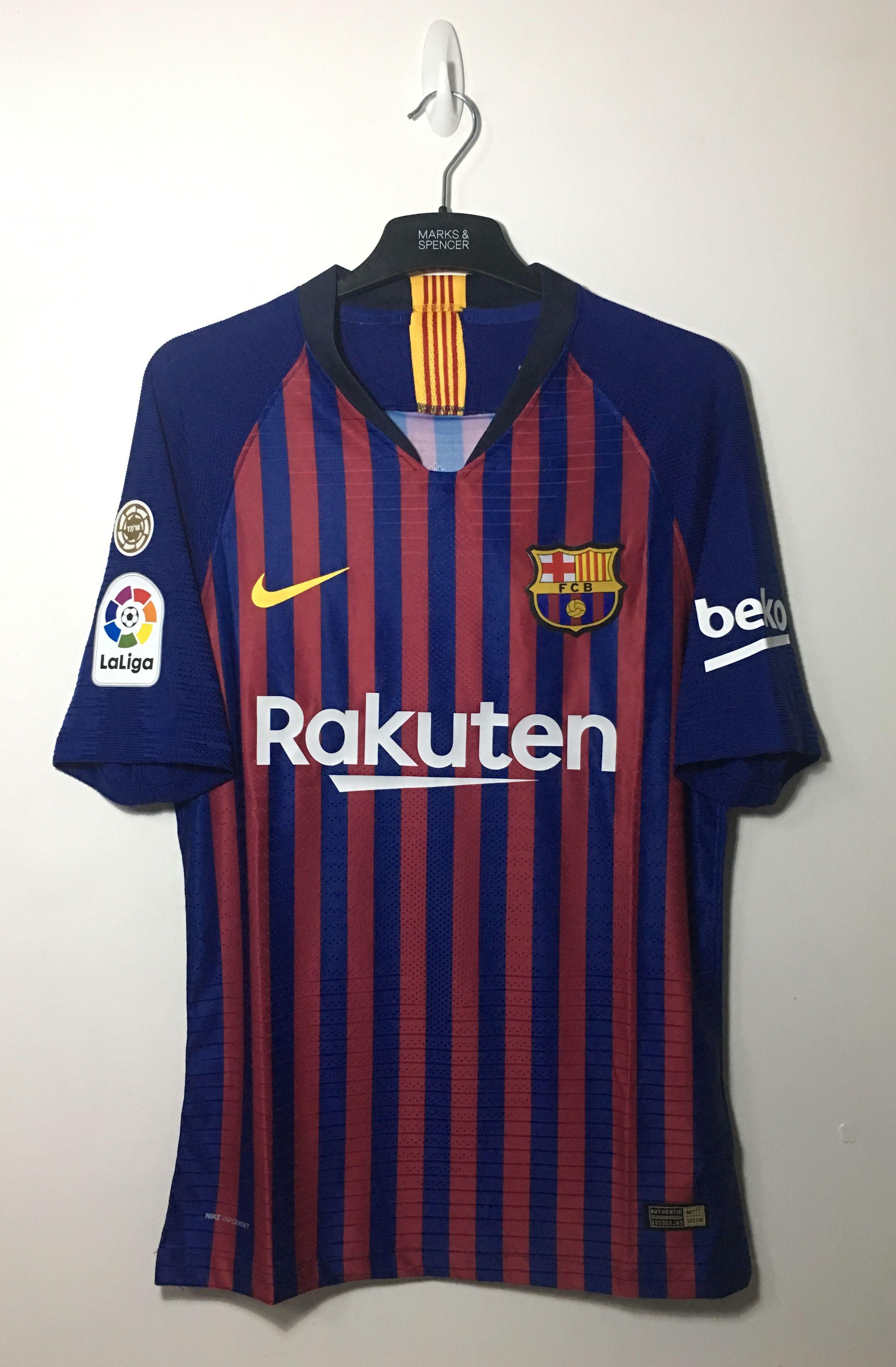 cf2ce811035 2018/2019 FC Barcelona Home La Liga Champions Patch | futbol jersey ...