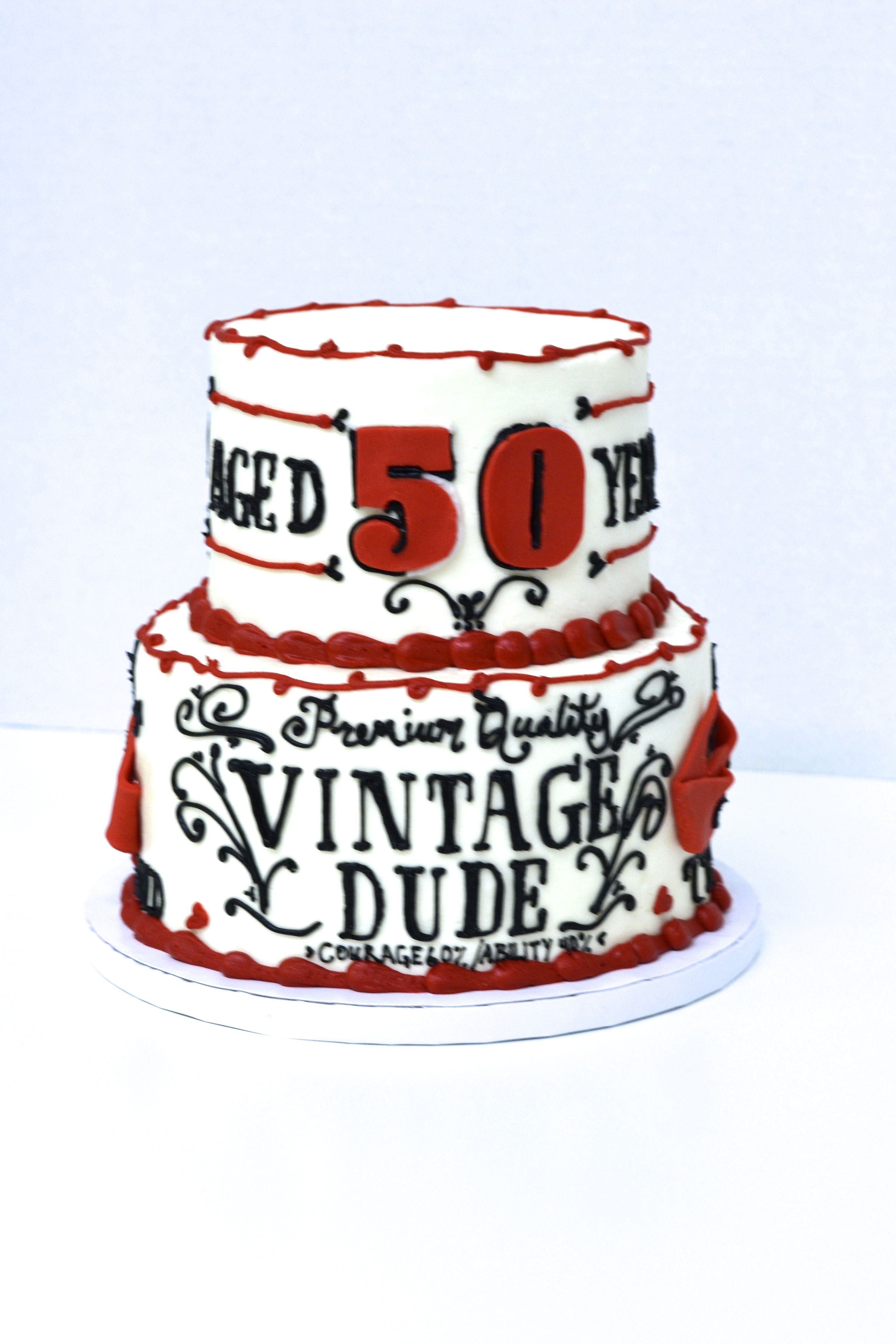 Vintage Dude Birthday Cakes 50th For Men 60th Party