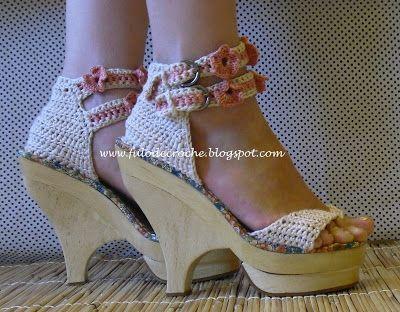 Fulô de Crochê: calçados