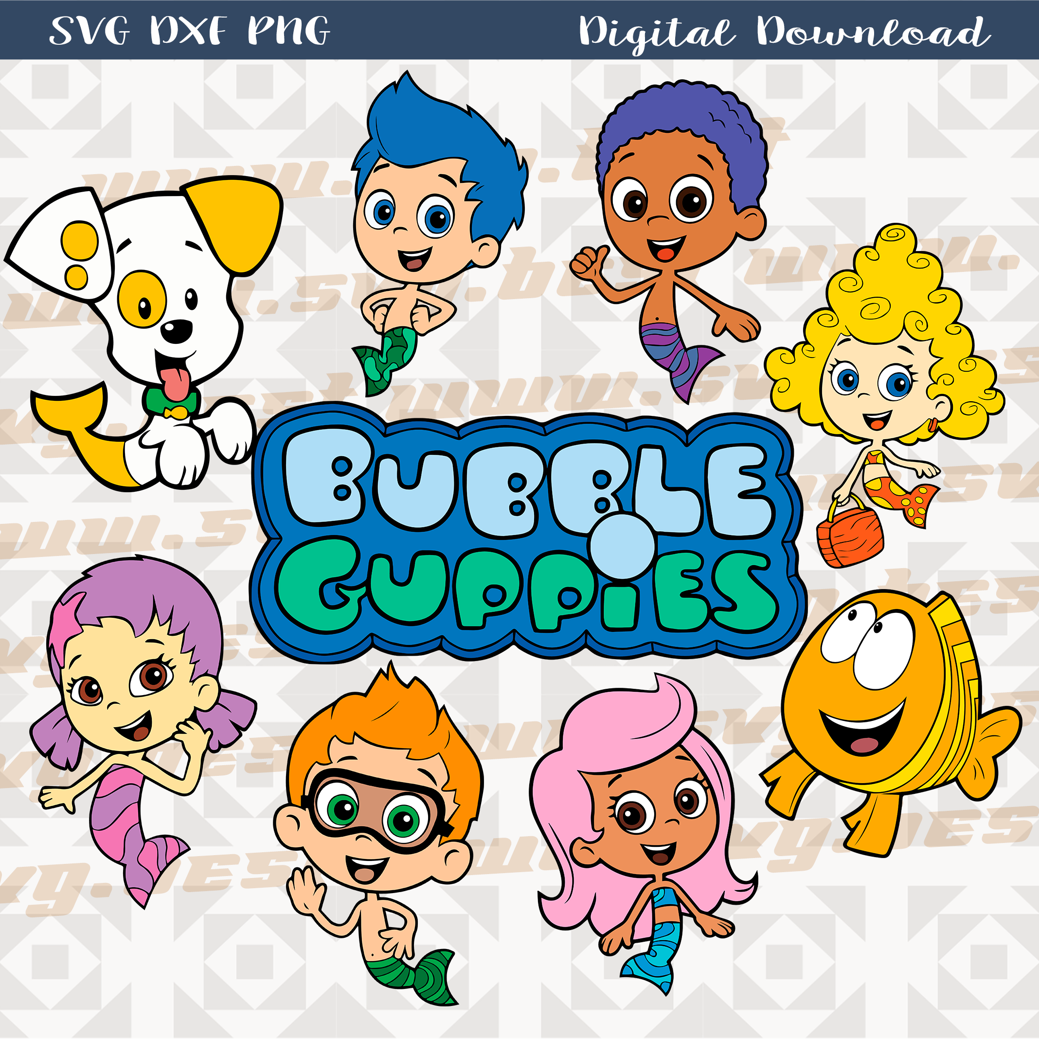Bubble Guppies Bundle Svg Dxf Png 300 Dpi Bubble Guppies Birthday Party Ladybug Party Mickey Mouse Parties