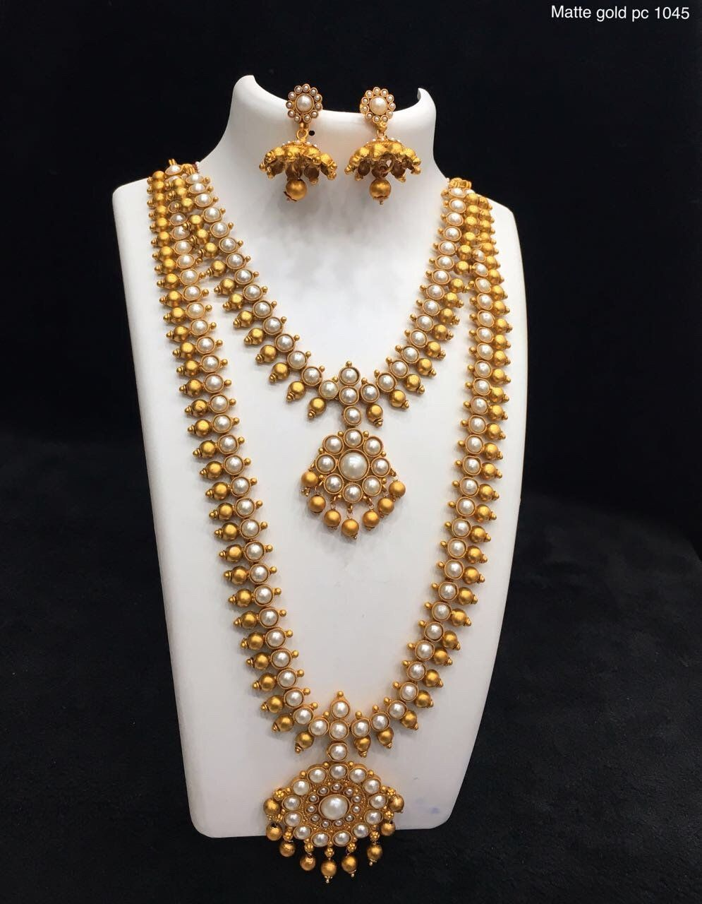 Moti double necklace set products