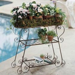 Beautiful European Style Garden Iron Double Deck Storage Rack Home Improvement Bathroom Shelves