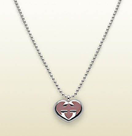 2c2fbf67e Gucci - necklace with heart-shaped interlocking G motif large pendant.  258594088599172