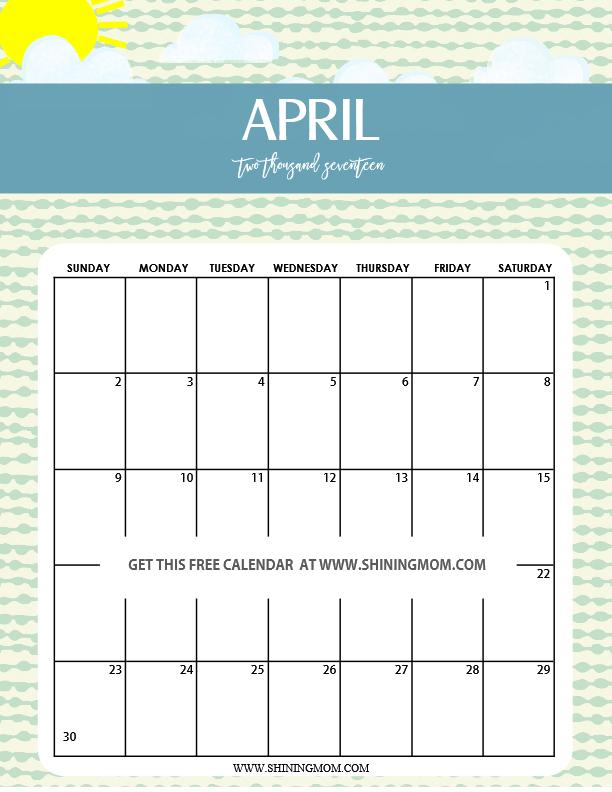 fun and cute 2017 calendar printable monthly calendar printables