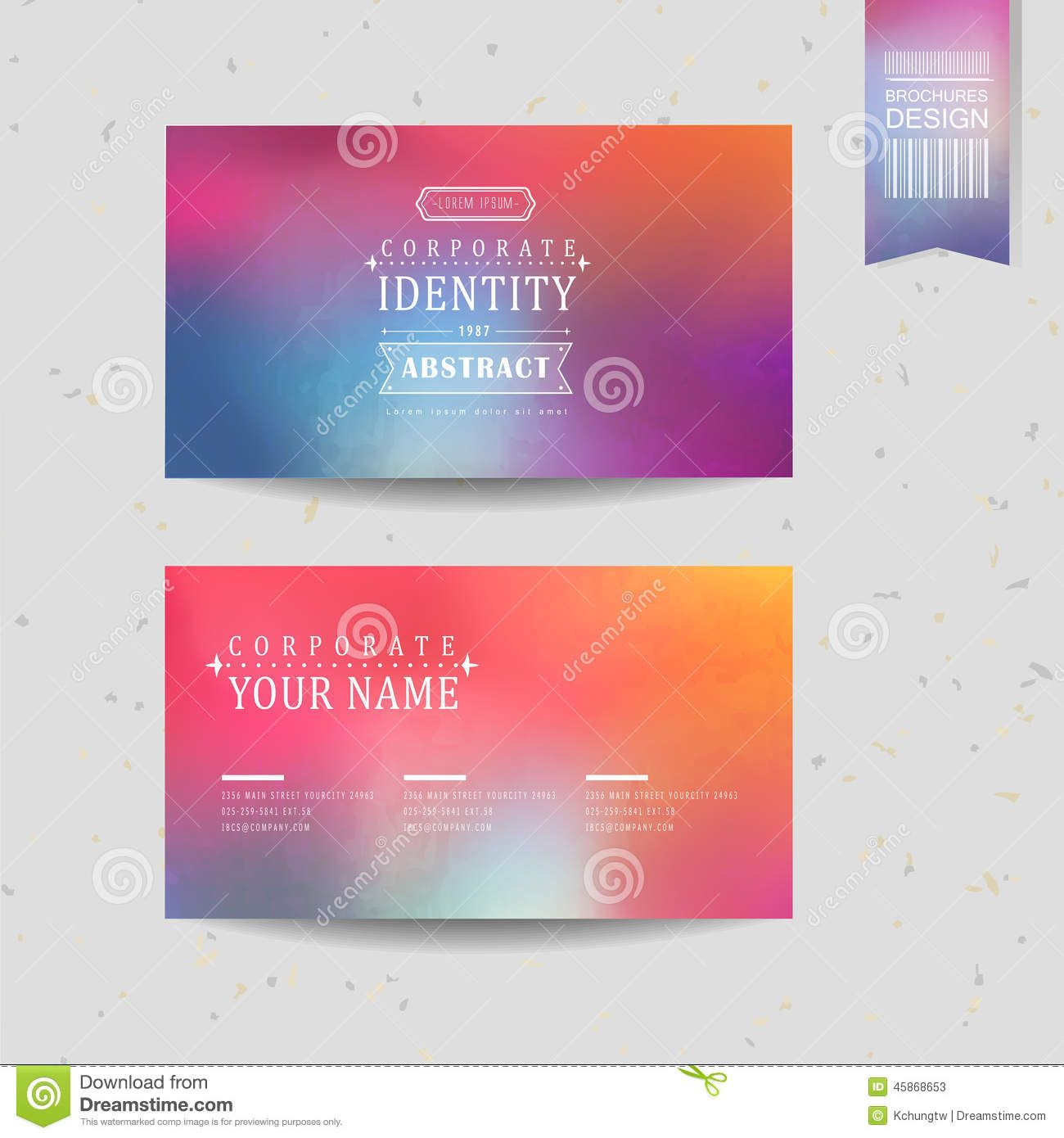 Conception Colore Douce De Fond Pour La Carte Visite Professionnelle Illustration Vecteur