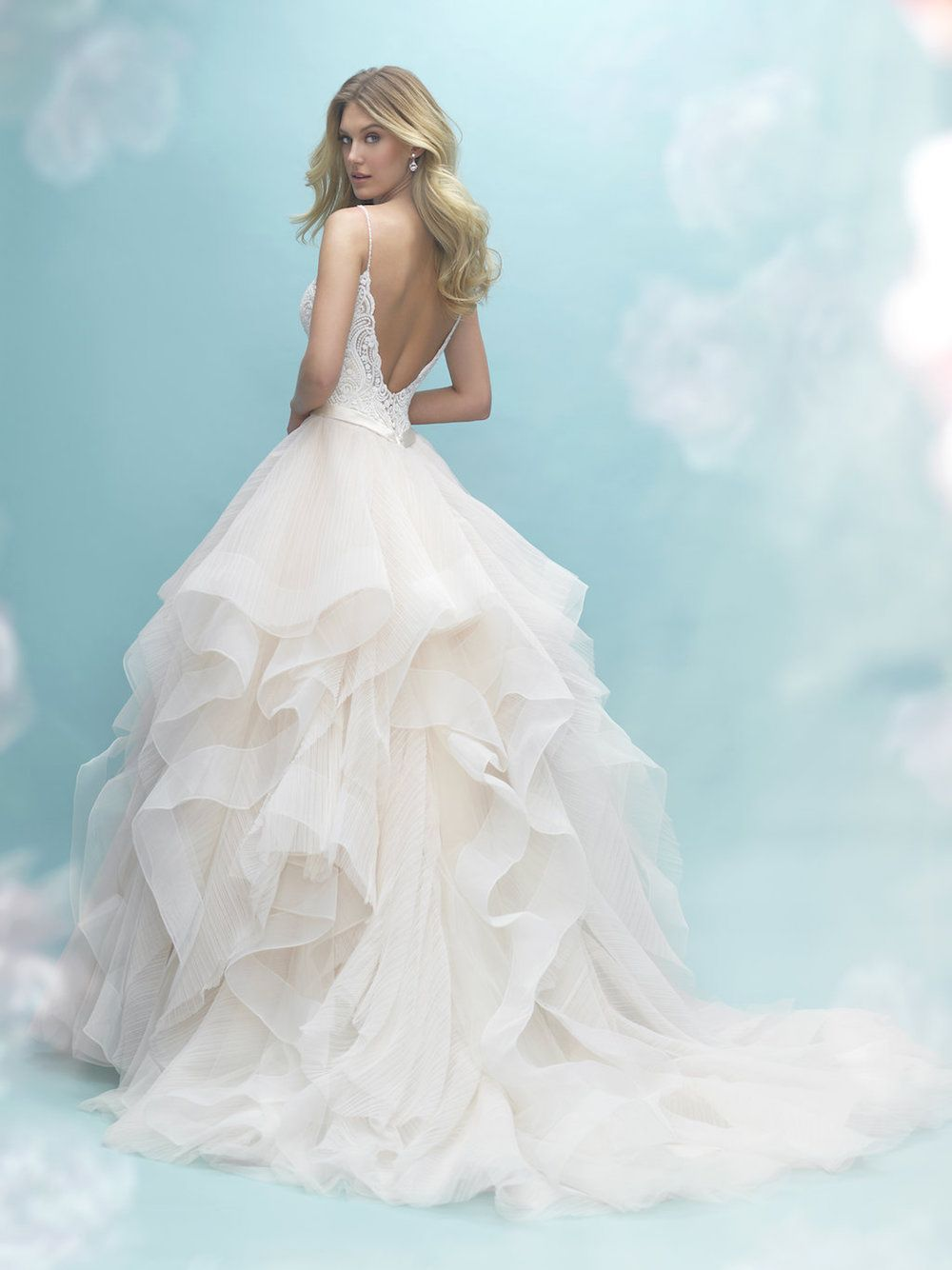 Allure Bridal Gown Style 9450 Airy, textured ruffles comprise the ...