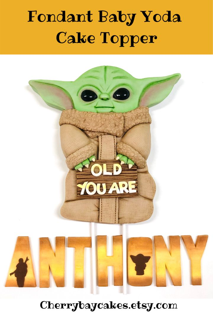 Star Wars Cake Topper Yoda Birthday Star Wars Printable Cake Topper Baby Yoda Cake Topper Star Wars Birthday Star Wars Party