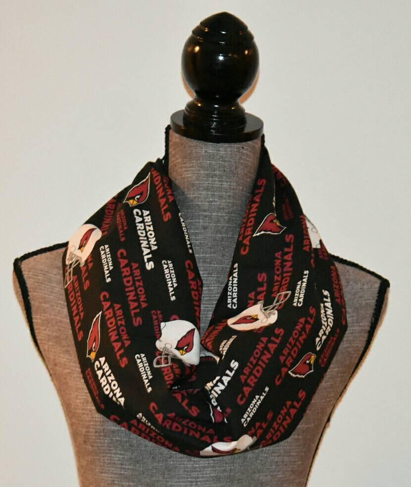 ac104cfde42f Arizona Cardinals Infinity Scarf with soft jersey knit chevron. The chevron  is a soft jersey