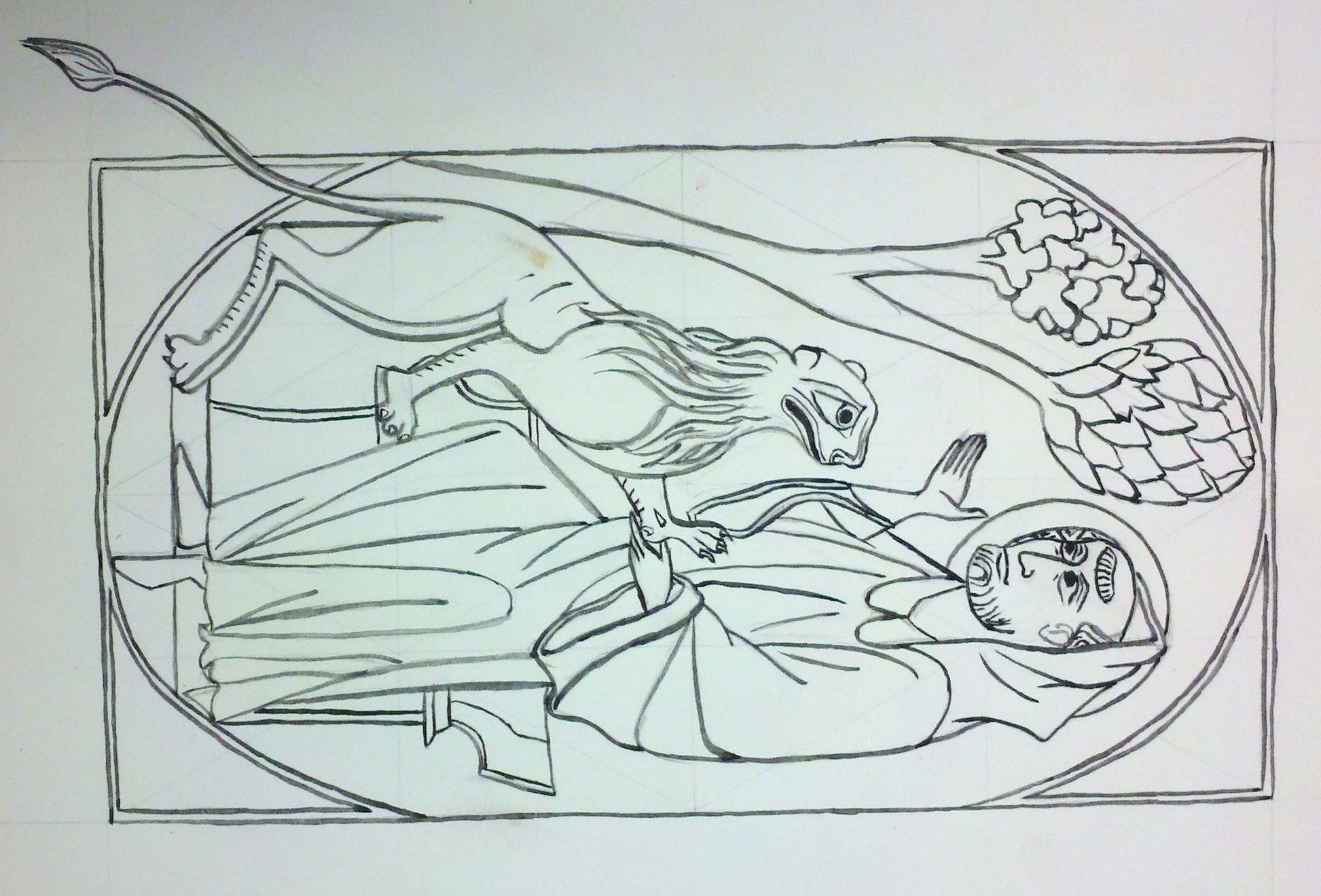 St Jerome Coloring Page St Jerome Sketches Coloring Pages