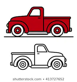 28++ Vintage red truck clipart info
