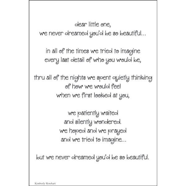 Pin by Lisa Barrett on Quotes | Baby poems, Baby scrapbook ... | 600 x 600 jpeg 29kB