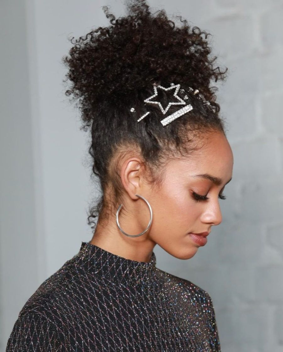 Cute Holiday Party Ponytails For Natural Hair  Natural hair