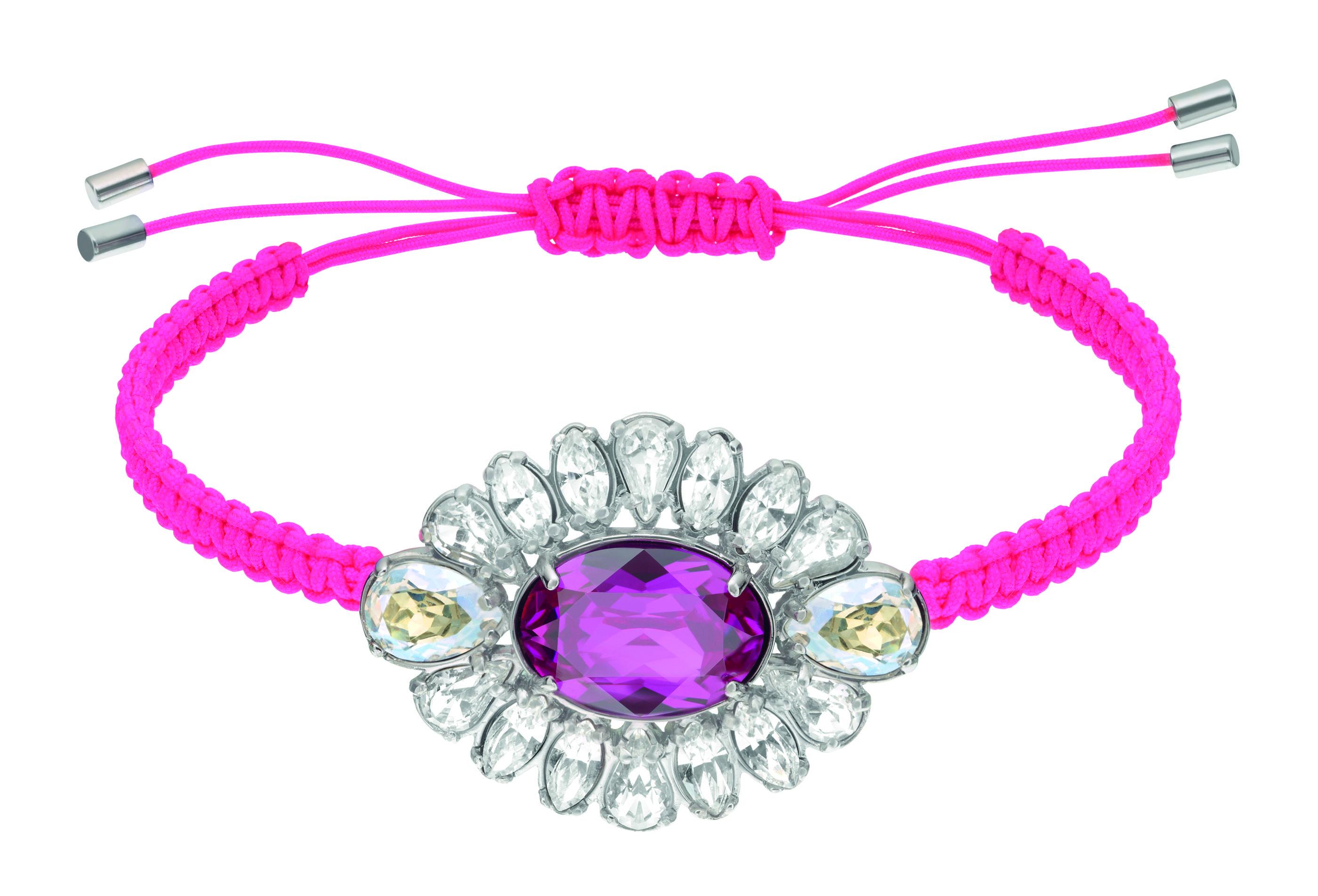 Swarovski by Shourouk Bracelet #bling #flower #diamond #friendshipbracelet #pink #purple