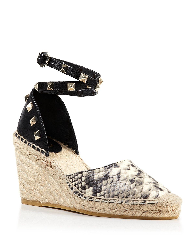 Winnie Stud Detail Wedge Sandals XNMXEu6QB