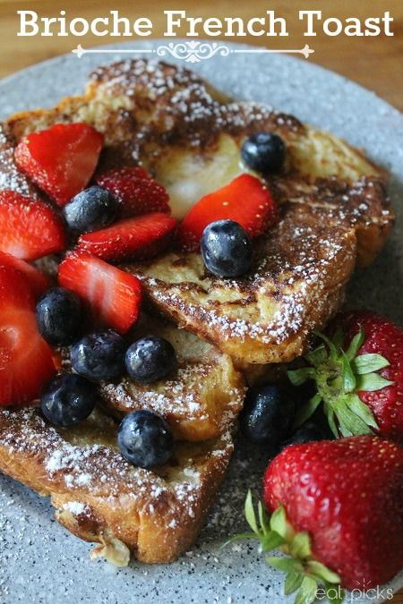Breakfast or Brunch is the best time to enjoy this recipe for brioche French toast!