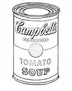 soup can coloring page - escuela infantil castillo de blanca andy warhol s arts