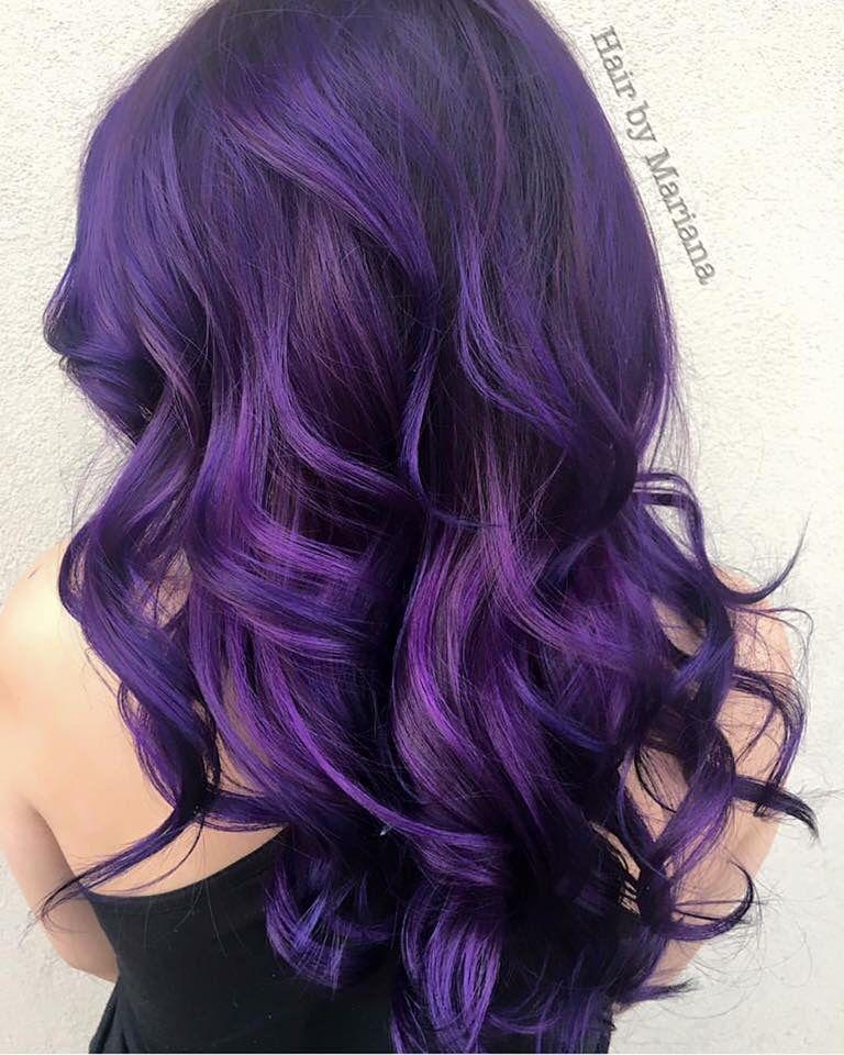 Deep purple   Hair color purple, Hair styles, Lilac hair