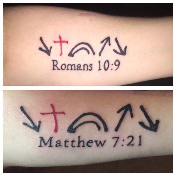 My Tattoo On Top And My Sons Is On Bottom It Means He Came He