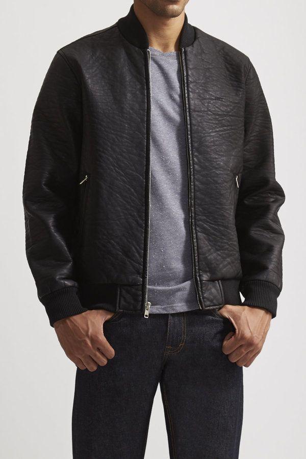 137 Obey Bond Vegan Leather Jacket Vegan Leather Jacket Black Leather Bomber Jacket Leather Jacket