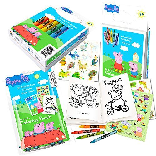 Peppa Pig Coloring Book Set With Peppa Pig Stickers And Crayons Includes Bonus Pack Of Zoo Animal Stickers Most Wanted Christmas Toys Peppa Pig Stickers Peppa Pig Coloring Pages Peppa