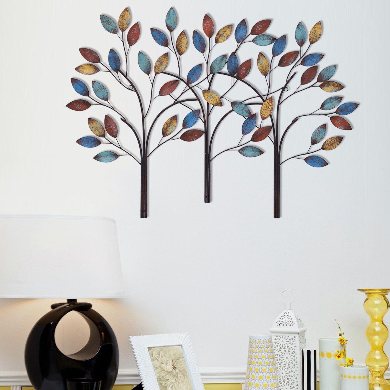 Adeco Steel Trees 3D Wall Decor