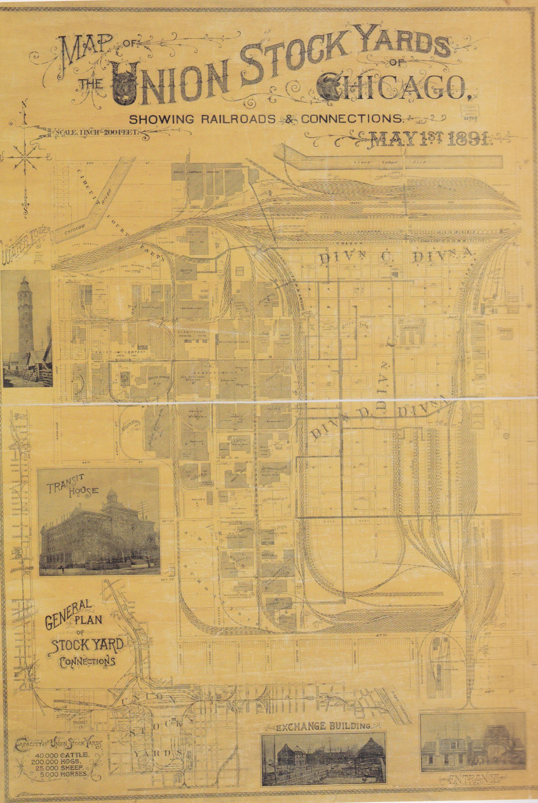 Union Stock Yard Map Chicago Chicago Pinterest - Chicago union map
