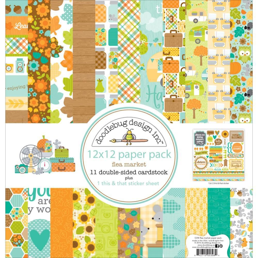 Doodlebug Design At the Zoo Collection 12 x 12 Paper Pack 5681 Scrapbook 2017