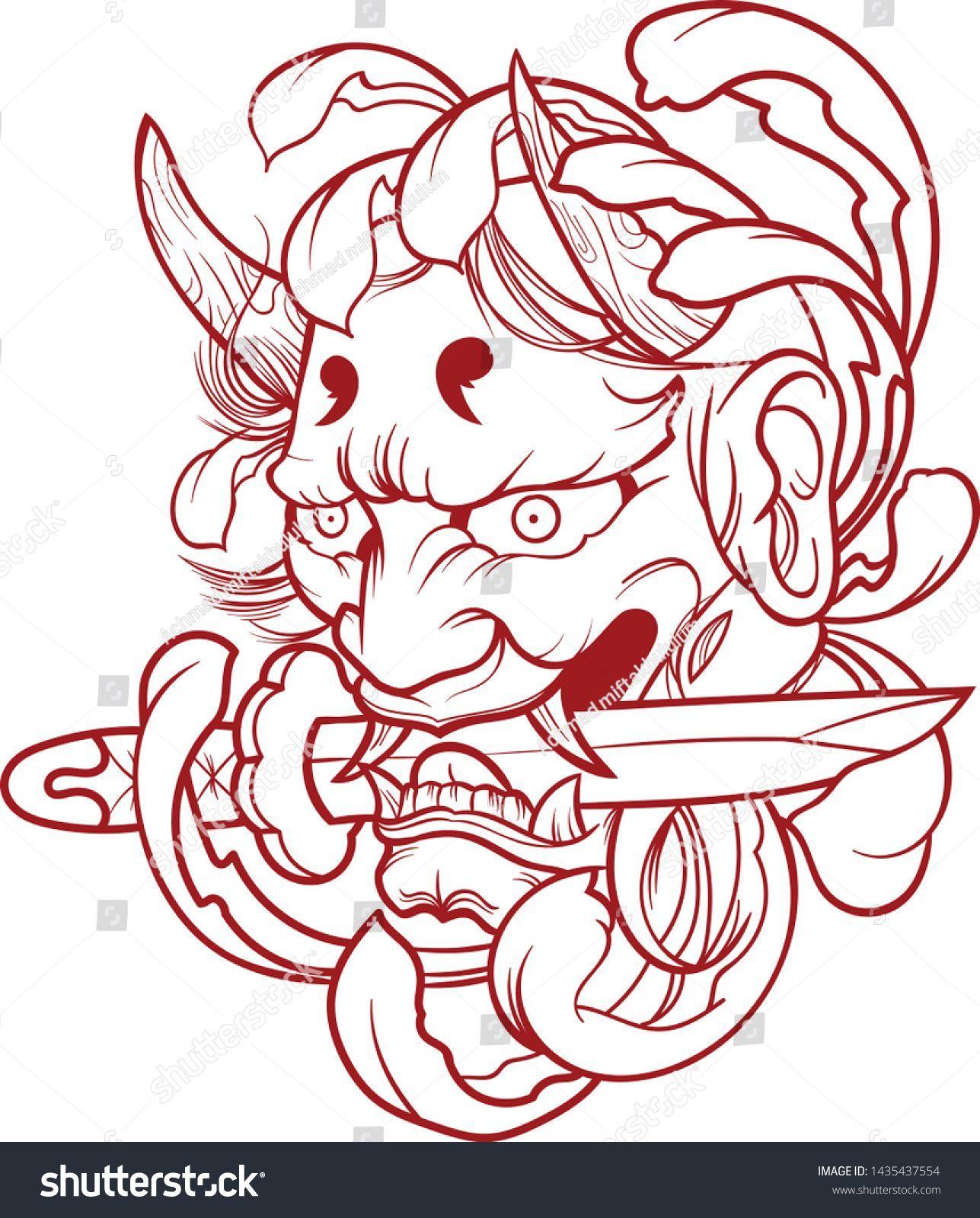 Samurai Mask Japanese Illustration Vector Free Illustration Japanese Mask Royalty Samurai Stoc In 2020 Samurai Tattoo Design Japanese Tattoo Art Japanese Tattoo