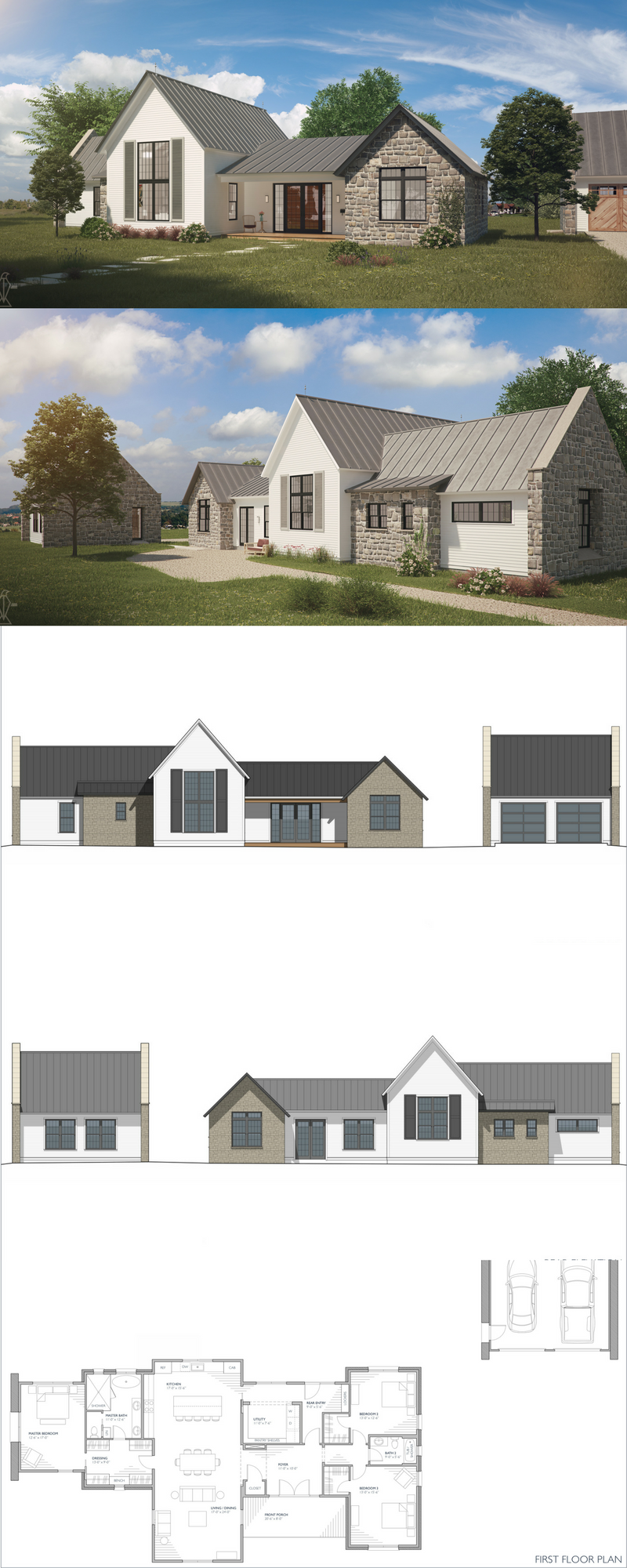 Mirandaise Farmhouse Floor Plans Country Farmhouse Exterior Farmhouse Exterior