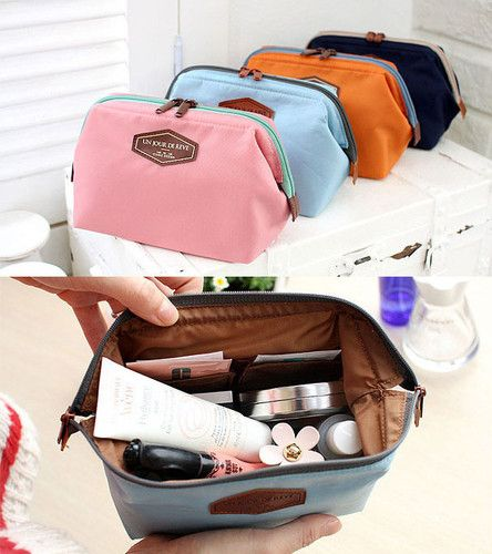 dd75d7314dd4 Iconic Frame Pouch Cosmetics Case Large Makeup Bag Travel Accessory ...