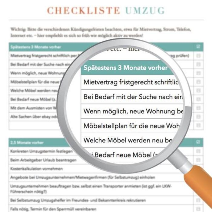 Umzugs-Checkliste zum Download | Planen & Organisieren | Pinterest ...