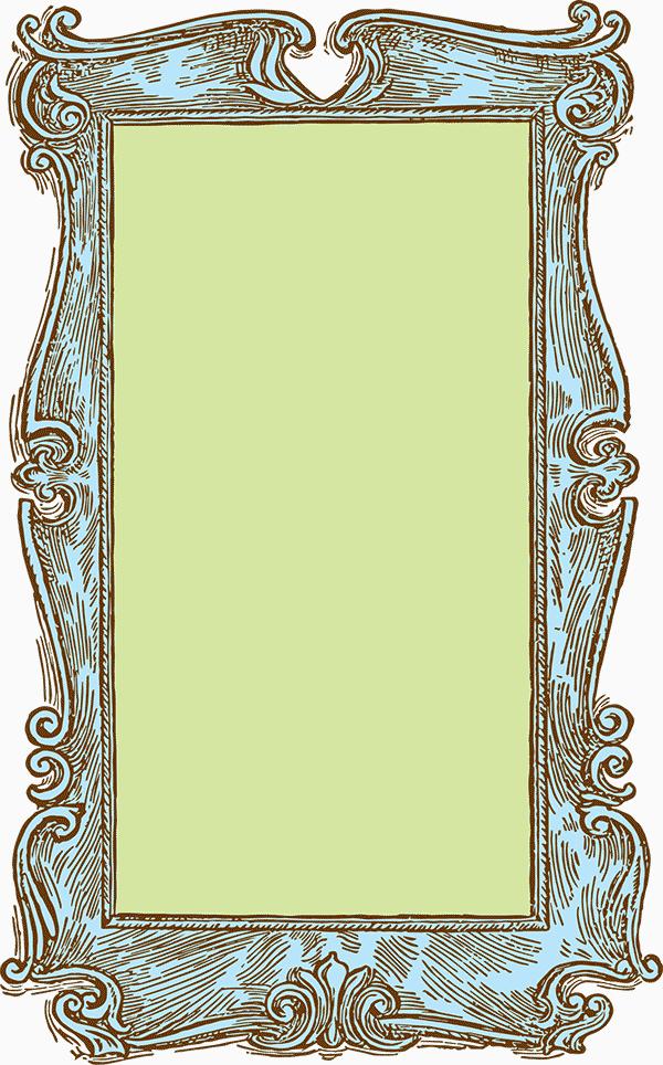Free Stock Image Vintage Wooden Frame Vector Clipart Vintage