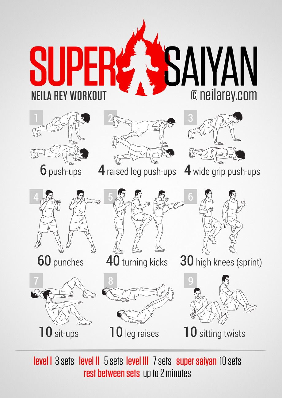 Super Saiyan Workout /// Goku, Gohan, Vegeta... if that is ...