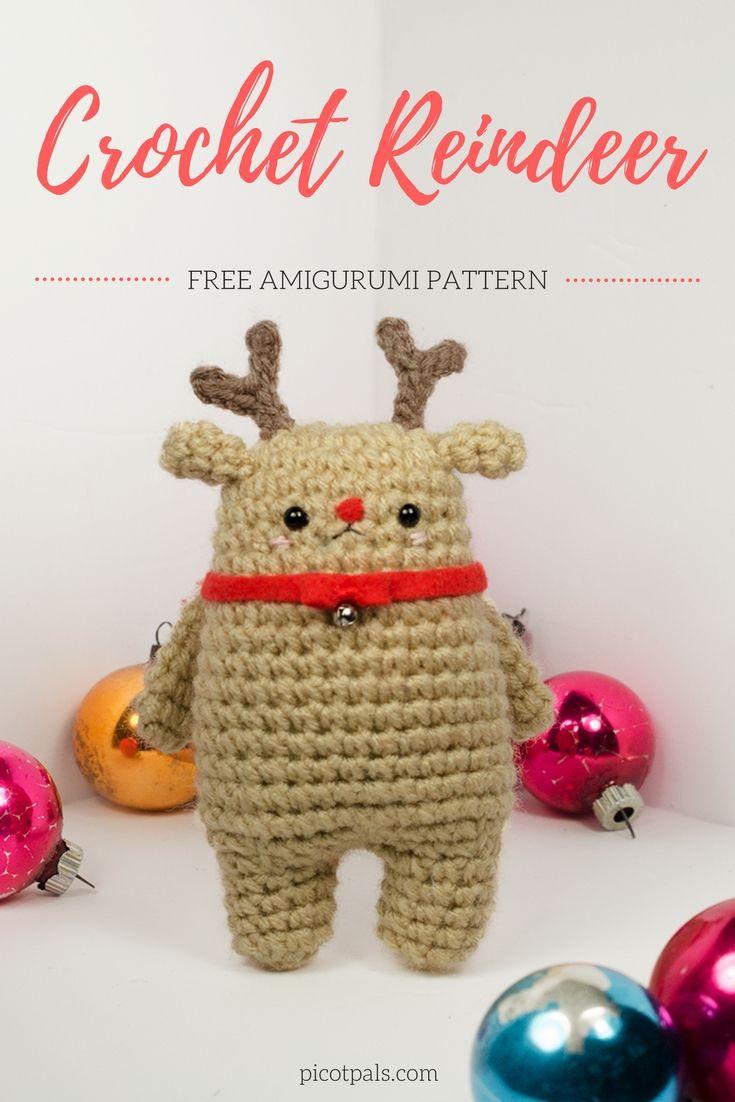 Crochet Reindeer | Pinterest | Free crochet, Crochet and Christmas ...