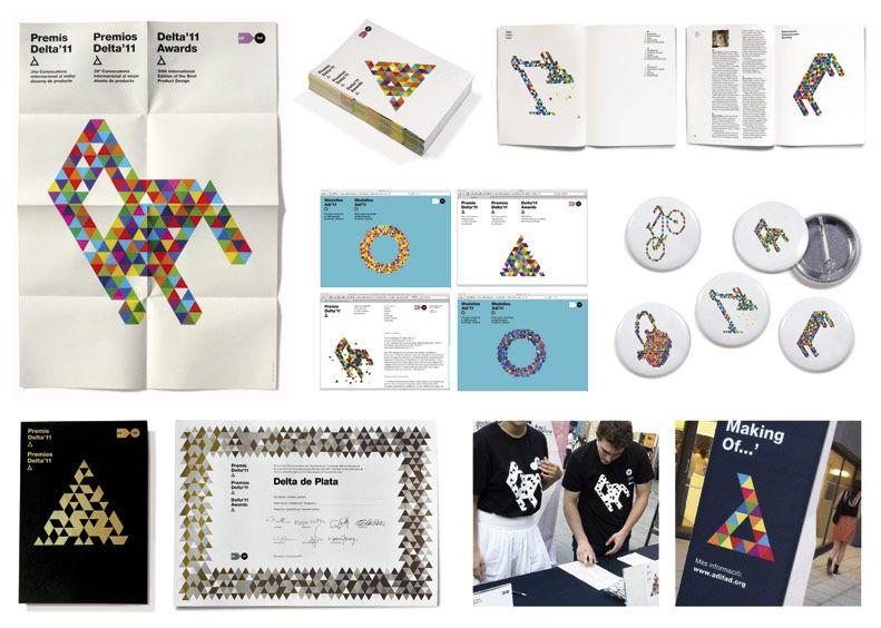 Bronce Laus 2012 | Conjunto de elementos coordinados |  Título: Premios Delta11 |  Autor: Diego Feijóo |  Cliente: ADI-FAD