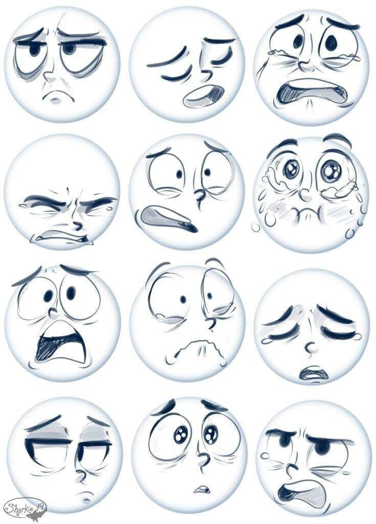 Como Dibujar Expresiones Dessin De Visage Dessin Cartoon Dessin De Bande Dessinee
