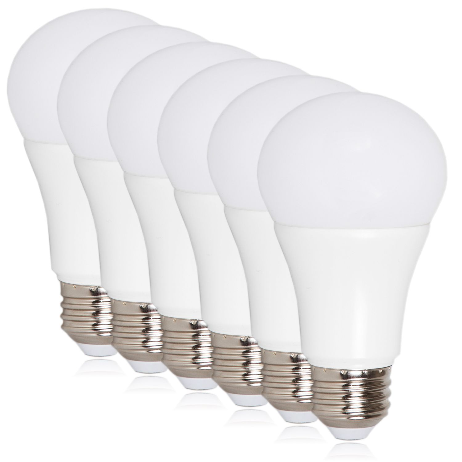 A19 Led 800 Lumens 10 Watt Light Bulbs 6 Pack Daylight 6 Pack White Plastic White Light Bulbs Light Bulb 60 Watt Light Bulb