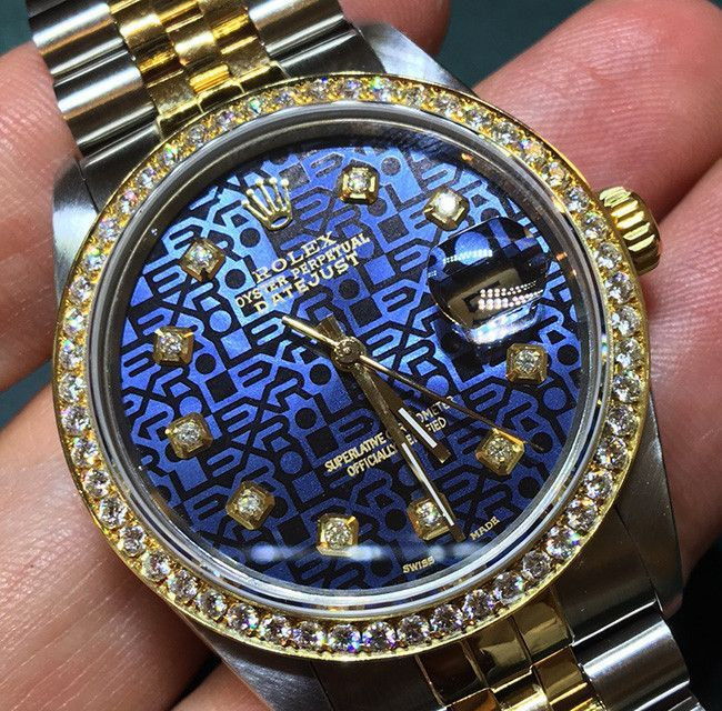 6986e1a9f5a Brand: Rolex Style Number: 16013 Series: Datejust Gender: Mens Case  Material: Stainless Steel Case Diameter: 36mm Dial Color/Diamond Quality:  Blue color ...