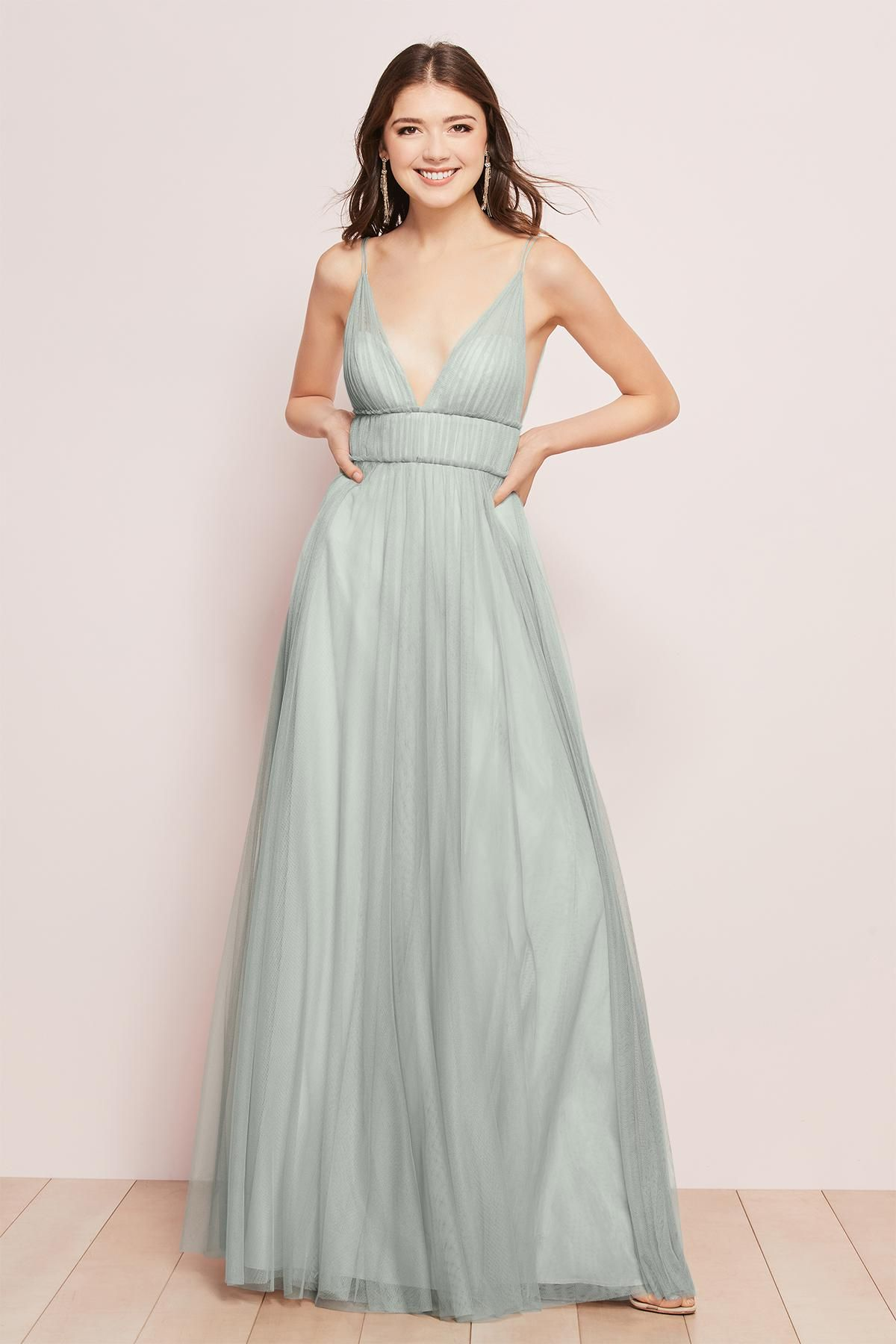Callie In Sage Watters Bridesmaid Dresses Watters Bridesmaid French Blue Bridesmaid Dress