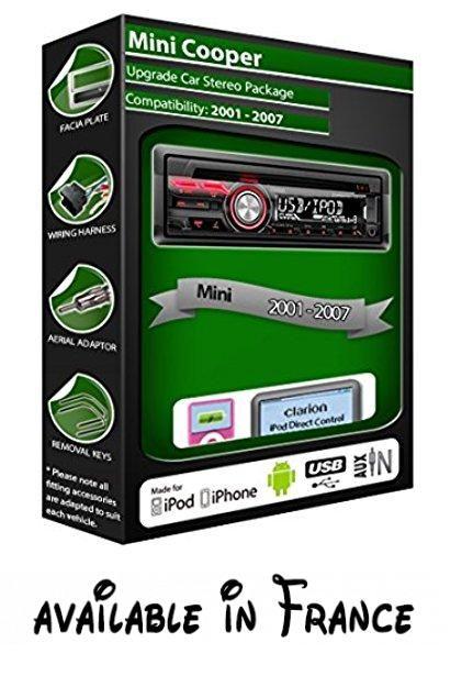 Clarion Autoradio Lecteur Cd Stéréo Usb Compatible Ipodiphone