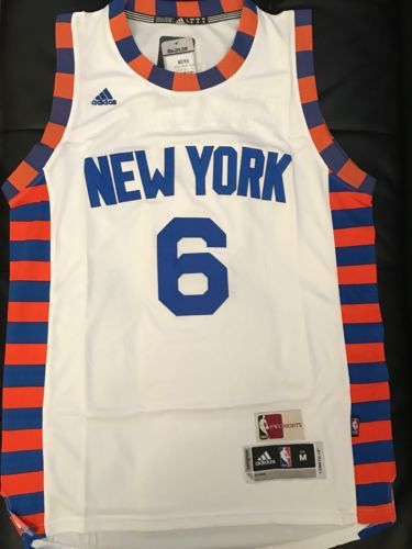 a620b513bd3 Kristaps Porzingis White Alternate New York Knicks Jersey Size Medium