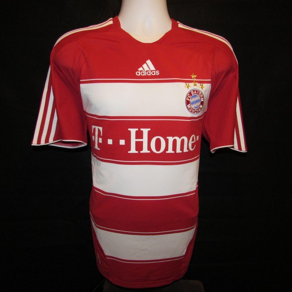 2007 2009 Bayern Munich Football Shirt Home Adidas