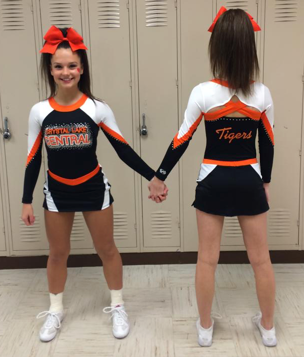 43bb416610a3dc Saw this when I searched cheer uniforms!!! I drew and designed this uniform!!!!..  and that s my kids! GK Cheer Uniform That Dares to be Different
