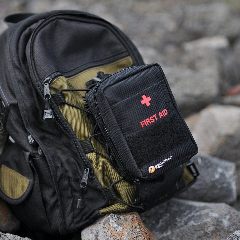 Northbound Train First Aid Kit - Black (65-Items) /Car kit