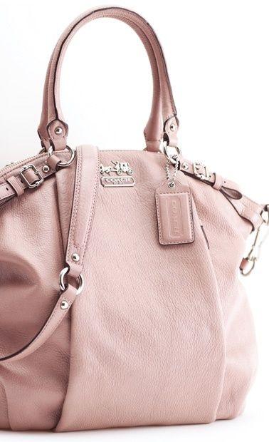 b5d2a7b5db Soft pink leather slouchy Coach® purse. Sigh.