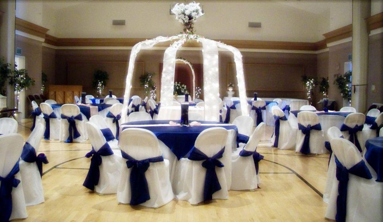 Blue wedding decor ideas  Royal Blue And Silver Wedding Decorations Ideas  Wedding Party