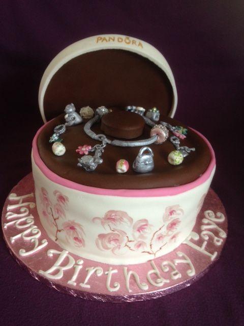 Jewellery Box Cake Pandora Cake Charms Cakes Pinterest Boxed